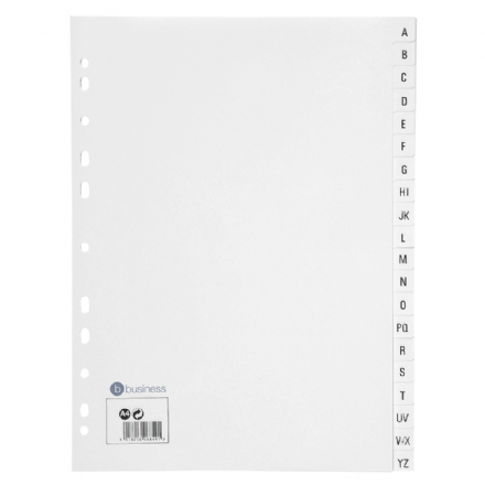 5 Star Office Index A4 A-Z 20-Part Polypropylene Multipunched Dividers